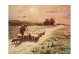 End of the Day,1890 Giclee Print by George Faulkner Wetherbee
