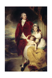Henry, 10th Earl and 1st Marquess of Exeter, His Wife Sarah and Daughter Lady Sophia Cecil Giclée-tryk af Sir Thomas Lawrence