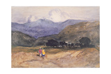 Mountain Landscape with Figures Giclee Print by John Sell Cotman