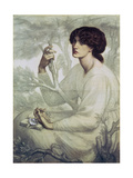 The Day Dream, 19th Century Giclee-trykk av Dante Gabriel Rossetti