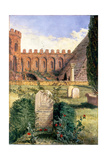 Keats' Grave in the Old Protestant Cemetery in Rome, 1873 Giclee Print by William Bell Scott