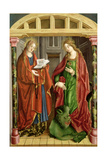 Two Female Saints, Possibly St. Mary Magdalene and St. Martha Giclée-tryk af Fernando Gallego