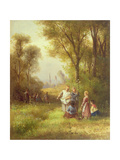 Playing in the Woods, 19th Century Giclee Print by Anton Doll