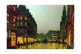 John Atkinson Grimshaw - Boar Lane, Leeds, 1881 Digitálně vytištěná reprodukce