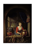 Maid Servant at a Window Giclee Print by Gerrit or Gerard Dou