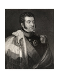 George Augustus Frederick Fitzclarence, 1st Earl of Munster, Engraved by W.H. Cook, from… Giclee Print by James Atkinson
