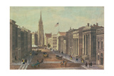 Wall Street, New York, Engraved by Deroy, Pub. by Goupil and Co, 1850 Giclee Print by Augustus Kollner