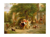 The Playground, C.1852 Giclee Print by Thomas Webster