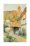 By the Cottage Door Giclee Print by Arthur Claude Strachan
