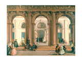 The Entrance to the Biblioteca Marciana, the Piazzetta, Venice Giclee Print by Giuseppe Bernardino Bison