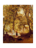 Our Picnic - New Lock, Berks. Giclee Print by Charles James Lewis