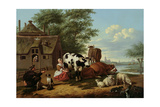 Cattle in a Meadow Giclee Print by Jan van Gool