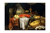 Still Life with a Lobster, Lemons and a Lute, 1645 Giclee Print by Jan van den Hecke