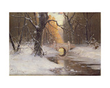 Wooded River Landscape Giclee Print by Dimitri Kleburg