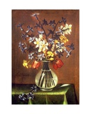 Still Life of Flowers Including Hyacinth, Tulips and Pheasant Eye Giclee Print by Antonio Ponce