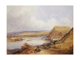 Ehrenbreitstein and Koblenz from the Heights of Pfaffendorf, 1839 Giclee Print by William Callow