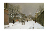 Winter Scene Near Les Invalides, Paris Giclee Print by Luigi Loir