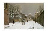 Winter Scene Near Les Invalides, Paris Giclee Print by Luigi Loir