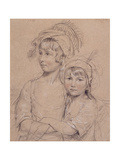 No.1857 the Misses Rigby, the Two Daughters of Mr Rigby of Norwich (1747-1821) a Celebrated… Giclee Print by John Downman