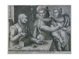 A Young Man Choosing Love of Beauty Rather Than Riches, Engraved by Jacob Matham (1571-1631) Giclee Print by Hendrik Goltzius