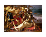 Achilles: Deciding to Resume Fighting Upon the Death of Patrocles Giclee Print by Theodore van, called Dirk Baburen