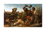 The Hunted Slaves, 1862 Giclee Print by Richard Ansdell