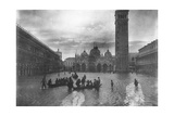 View of Flooded Piazza S. Marco 1880-1920 Giclee Print