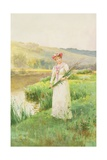 By the River, 1895 Giclee Print by Alfred, Jr. Glendening