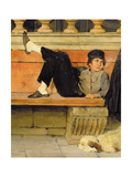 St. Mark's, Venice, Detail of a Boy Smoking (Detail) Giclee Print by Adolf Echtler