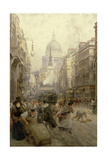 Fleet Street Looking East, 1898 Giclee Print by Henry Edward Tidmarsh