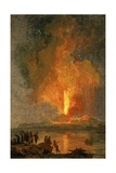 The Eruption of Vesuvius Giclée-Druck von Pierre Jacques Volaire