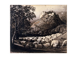 The Flock and the Star Giclee Print by Samuel Palmer