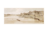 Pd.5-1983 View of the Louvre and the Pont Des Tuileries from the Pont Neuf, C.1801 Giclee Print by Thomas Girtin