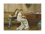 The New Spinet Giclee Print by George Goodwin Kilburne