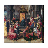 Christ in the Temple Giclee Print by Bernard van Orley
