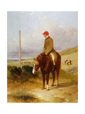 Nat Flatman (1810-60) on His Pony before the Start of the 1844 Chesterfield Stakes, 1844 Giclee Print by Harry Hall