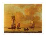 A Royal Yacht and Small Craft in a Calm Giclee Print by Francis Swaine