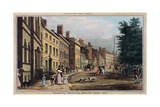 Broad Way from the Bowling Green, Engraved by J.R. Hutchinson, 1828 Giclee Print by William James Bennett