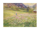 Girl in a Field of Poppies Giclee Print by John MacWhirter