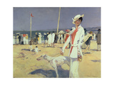Woman by the Sea (Elegante Au Bord De La Mer) Giclee Print by Francois Flameng