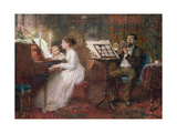 The Music Lesson Giclee Print by Frederick Walker