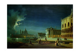 Venice by Moonlight Giclee Print by Ippolito Caffi