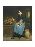 The Young Flower Seller, 1882 Giclee Print by Joseph Bail