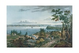 New York from Weehawk, Engraved by I. Hill, 1820-3 Giclee Print by William Guy Wall
