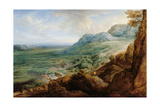 The Escorial, from a Foothill of the Guadarrama Mountains Giclée-Druck von Lucas Van Uden