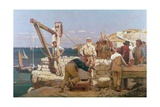 Quarrymen of Purbeck Giclee Print by Henry Tanworth Wells