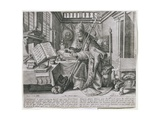 Pope Gregory I, the Great (C.540-604) in His Study, from a Series Depicting the Four 'Fathers of… Giclée-Druck von Maarten de Vos