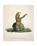 Dancing Woman from the Island of Maui, in the Hawaiian Islands, Engraved by Parfait Augrand… Giclee Print by Jacques Etienne Victor Arago