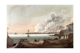 View of New York after the Great Fire Taken from Brooklyn, 1835 Giclee Print by Nicolino Calyo