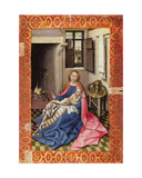Madonna and Child before a Fireplace Giclee Print by  Master of Flemalle